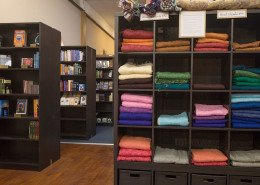 Shawls, Books Cabinets Displays