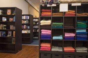 Shawls, Books Cabinets Displays
