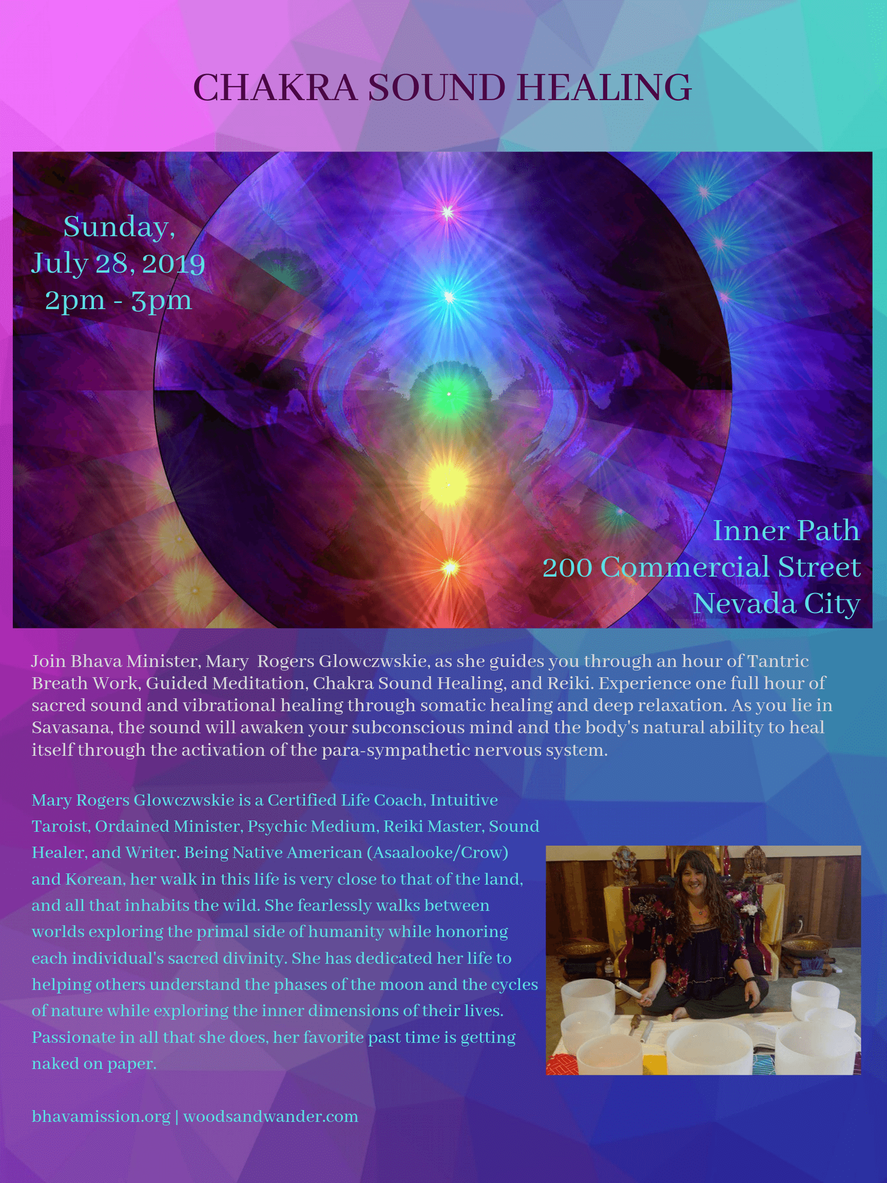 Chakra Sound Healing - Inner Path Nevada City